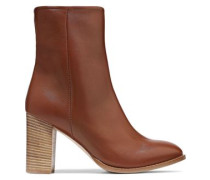 Kiersten Leather Ankle Boots Tan