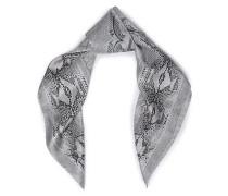 Snake-print silk-twill scarf