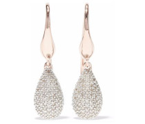 Stellar rose gold-plated diamond earrings