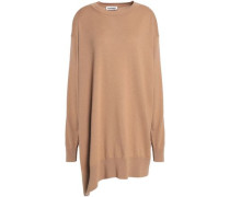 Asymmetric wool and cashmere-blend sweater