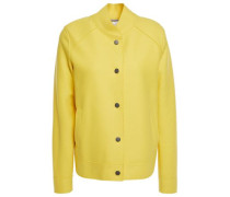 Woman Wool-felt Bomber Jacket Yellow