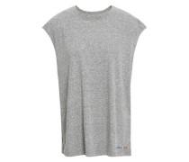 Mélange Stretch-jersey Top Gray Size 1