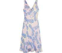 Woman Dita Printed Silk-chiffon Dress Baby Pink