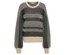 Aubin Wool And Cashmere-blend Jacquard Sweater Black