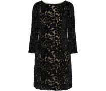 Riska Embellished Devoré-chiffon Mini Dress Black Size 0