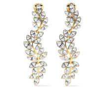 Gold-tone Crystal Clip Earrings Gold Size --