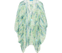 Draped printed coverup