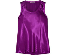 Satin Top Purple