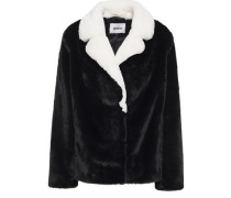 Woman Mariska Two-tone Faux Fur Jacket Black