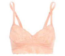 Sweet Treat Gathered Lace Bralette Peach