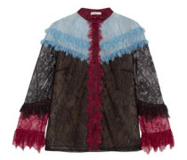 Margery color-block corded lace blouse