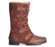 Leather-paneled Suede Snow Boots Brown