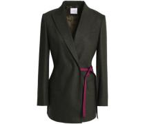 Prince of Wales checked jacquard blazer