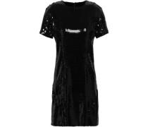 Sequined Silk-chiffon Mini Dress Black
