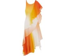 Miracle asymmetric silk-chiffon dress