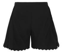 Scalloped Cady Shorts Black