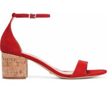 Chimes suede and cork sandals