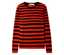 Woman Skinny Minnie Striped Wool And Cashmere-blend Sweater Red