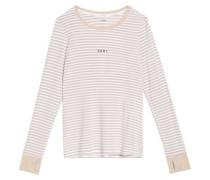 Striped stretch-modal jersey pajama set