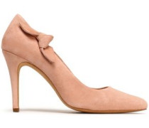 Knotted suede pumps