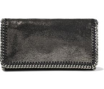 Falabella Metallic Faux Brushed-leather Clutch Anthracite Size --