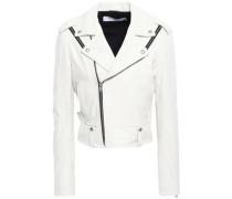 Ozark Leather Biker Jacket Ivory