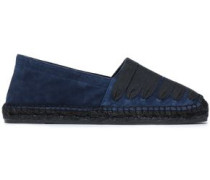 Woman Lace-up Suede Espadrilles Navy