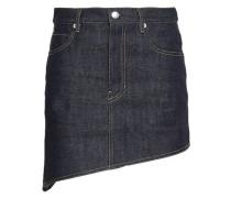 Asymmetric Denim Mini Skirt Dark Denim