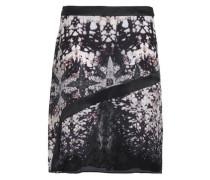 Printed silk crepe de chine skirt