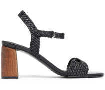 Woman Darby Braided Leather Sandals Black