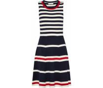 Striped stretch-knit dress