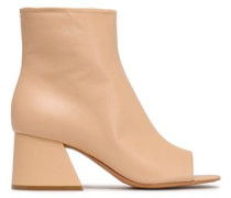 Leather Ankle Boots Beige