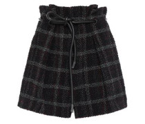 Checked Tweed Shorts Black