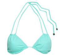 Suki Braid-trimmed Triangle Bikini Top Mint