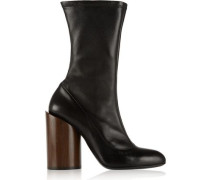 Boots in black stretch-leather
