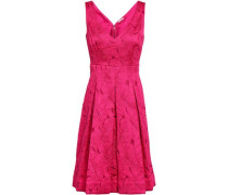Camelia Pleated Jacquard Dress Fuchsia