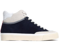 Rb Army Suede, Leather And Coated-shell High-top Sneakers Midnight Blue