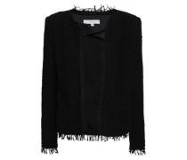 Shavani Frayed Cotton-blend Bouclé-tweed Jacket Black