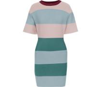 Color-block Bandage Mini Dress Grey Green