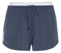 Striped stretch-modal jersey pajama shorts