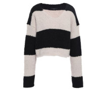 Striped Wool-blend Sweater Black