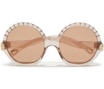 Woman Vera Round-frame Acetate Sunglasses Light Brown