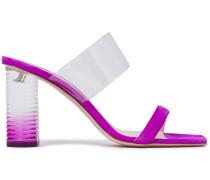 Pvc-trimmed Suede Sandals