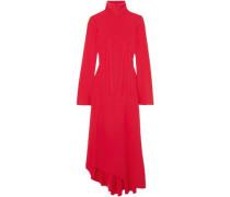 Woman Dumont Stretch-crepe Turtleneck Midi Dress Red