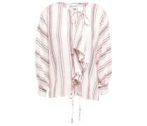 Serifo Ruffled Striped Cotton-gauze Blouse