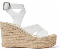 Arien leather espadrille wedge sandals