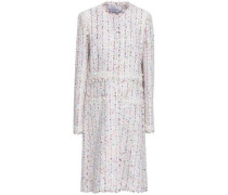 Lace-trimmed Tweed Coat Ivory
