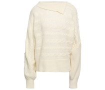 Cable-knit Virgin Wool-blend Sweater Ivory