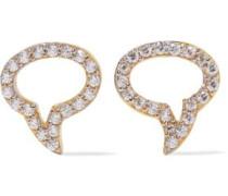 Speech Bubble gold-plated topaz earrings