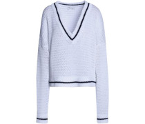 Scale open-knit cotton sweater